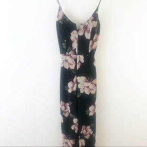 G by Guess Floral Print Spaghetti Strap Jumpsuit